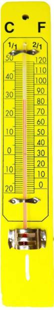 THE LABWORLD wall thermometer for room temperature in degrees celsius and fahrenheit wooden base wall mounted analog type Thermometer with Fork Kitchen Thermometer