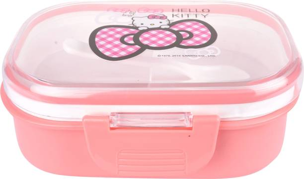 AKR Single Compartment Pink peach 1 Containers Lunch Box 2 Containers Lunch Box (500 ml) 2 Containers Lunch Box