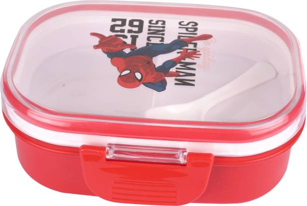 AKR Single Compartment Red 1 Containers Lunch Box 2 Containers Lunch Box (500 ml) 2 Containers Lunch Box