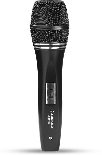 AUDIOEX Professional Dynamic Wired Microphone for Stage Studio Karaoke and PA Systems Microphone