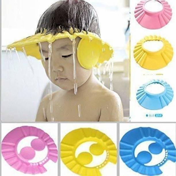 RAJIPO ENTERPRISE Adjustable Soft Baby Shower Cap / Shampoo Visor / Bath Visor / Eye Protection Cap for Kids & Infants