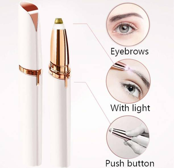 Balaji Enterprize Electric Painless Eyebrow Trimmer /Razor Shaver / Threading Tool for Women (With Battery)
