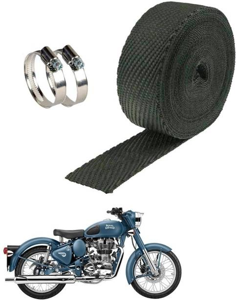 AXWee Silencer Wrap With Clamp Bike Exhaust Heat Shield (3Mtr, Black) _Royal Enfield Bullet 500PrtSc Bike Exhaust Heat Shield