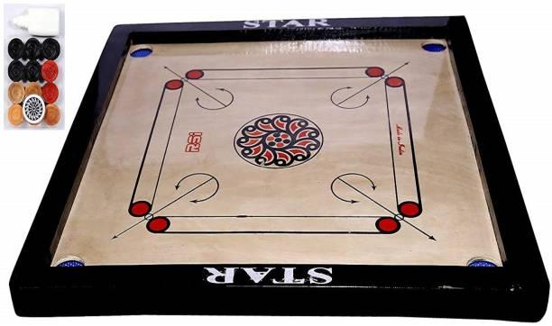 Craftnation 26 x 26 Inches Size Carrom Board Carrom Board Board Game