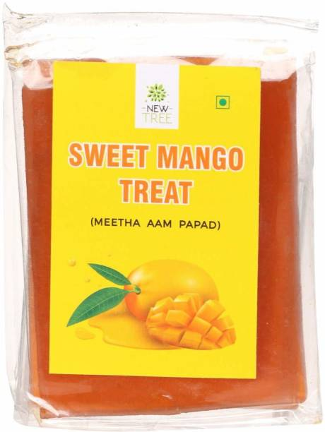 NEW TREE Meetha Aam Papad Pack of 4(Total Weight 400gms) Meetha Aam Candy
