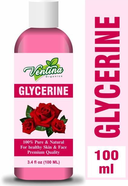 Ventina Organics Premium Glycerine - For Softens & Moisturises, Multi-Purpose (100 ml)
