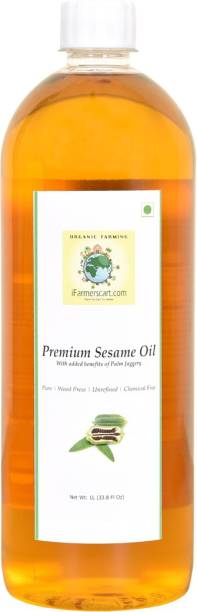 iFarmerscart Premium Sesame Oil | Gingelly Oil with Palm Jaggery Sesame Oil Plastic Bottle