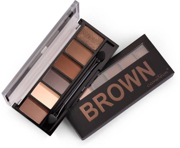 Cameleon Brown 6 Color Eyeshadow 7 g