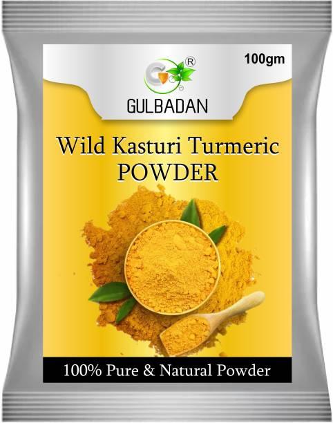 GULBADAN Oragnic Wild Amba Haldi Kasturi Turmeric Manjal Powder For Skin Whitening