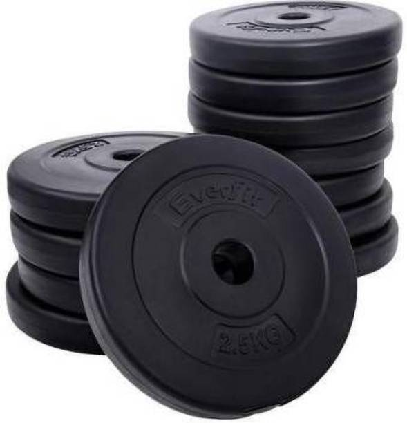 Keyways 10 KG PVC PLATES IN BOX 2.5KGX4PC =10KG Black Weight Plate