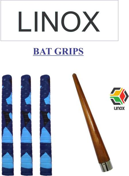 LINOX MULTI COLOR PATTERN CRICKET BAT GRIP WITH CONE Dry Feel