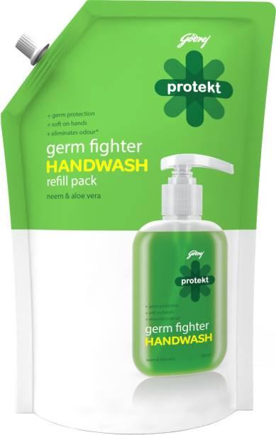 Godrej Protekt Germ Fighter Handwash Refill NEEM & ALOE VERA Hand Wash Pouch