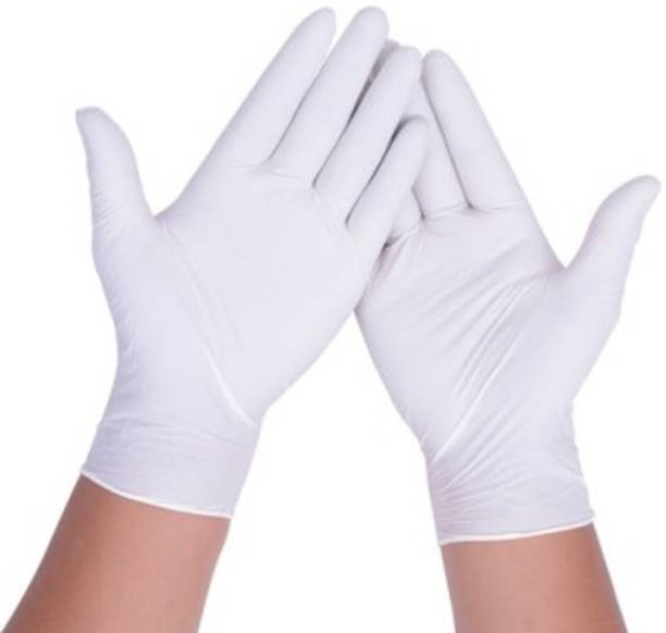 RRHR SALES Non Powder White hand gloves disposable for men women and kids gloves available for surgery and protection against germs surgical hand gloves pieces Latex Surgical Gloves Rubber, Latex Examination Gloves