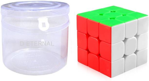 D ETERNAL Speed cube 3x3 cube high speed stickerless magic rubix cube 3x3 brainstorming puzzle cube 3x3 game toy