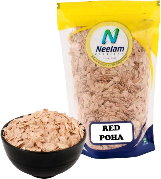 Neelam Foodland Red Rice Poha (Flattened Red Rice), 500g Red Poha