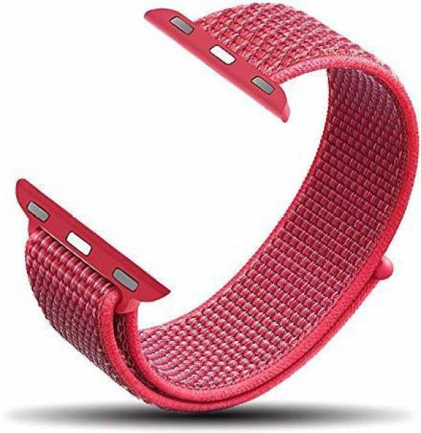 gettechgo Nylon Replacement Band Strap 38mm/40mm (Hibiscus) Smart Watch Strap