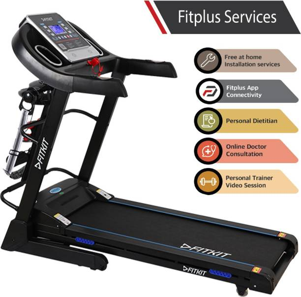 FITKIT FT063 7 in 1 Auto Incline Motorized Multi Functional (Free Installation) Treadmill
