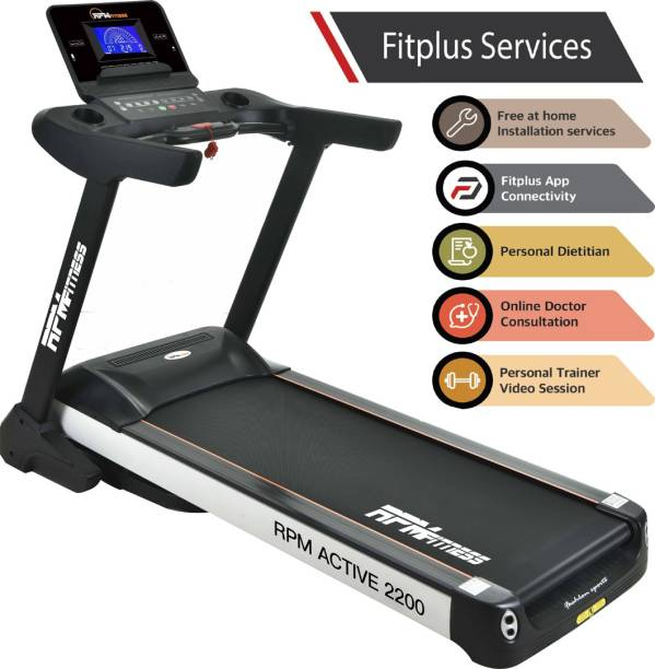 RPM Fitness Active 2200 Commercial A.C Motor (6 HP Peak Power) Treadmill