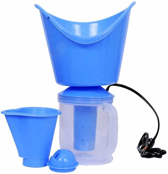 Vakra Creation 3-in-1 Nose & Facial Steamer and Vaporizer, Nozzle Inhaler, Cough Facial Sauna Steamer, Medium (Blue) Vaporizer