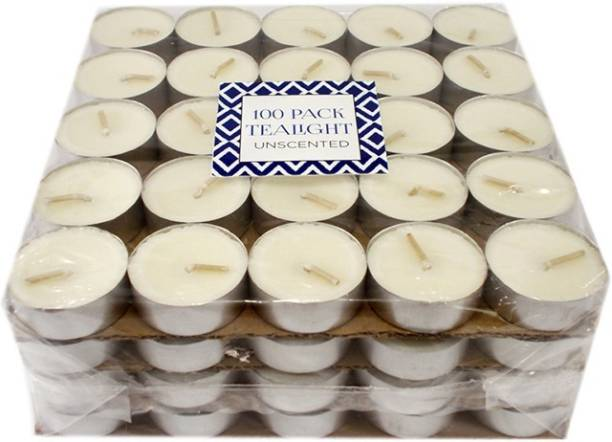 Ekam Unscented 100 Pack Tealight Candle