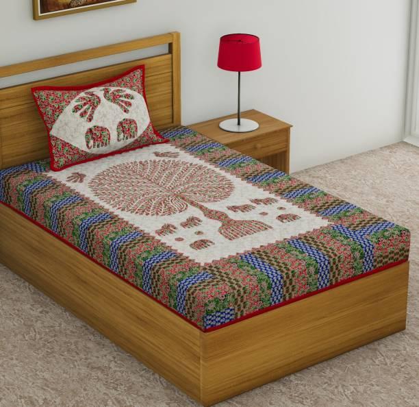 Homeline 104 TC Cotton Single Animal Bedsheet