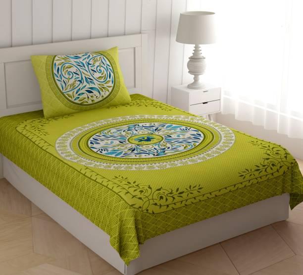 Homeline 104 TC Cotton Single Floral Bedsheet