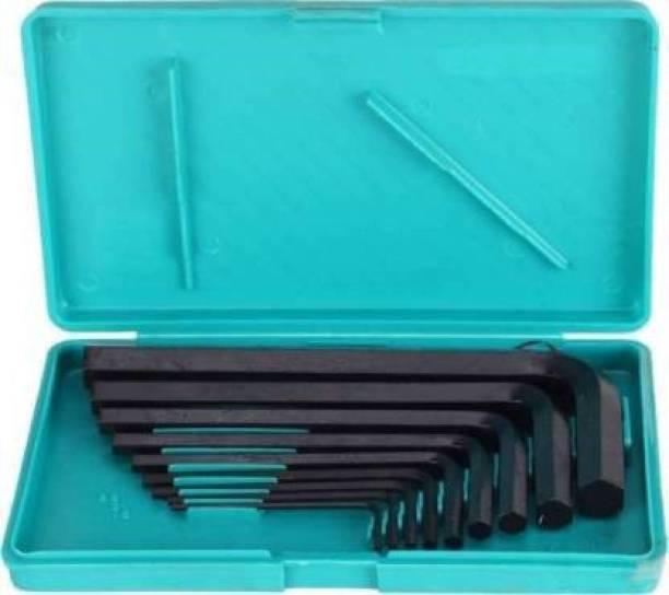 Inditools 9 Pieces Hex Allen Key Wrench L Shape Repair Tool Set Allen Key Set