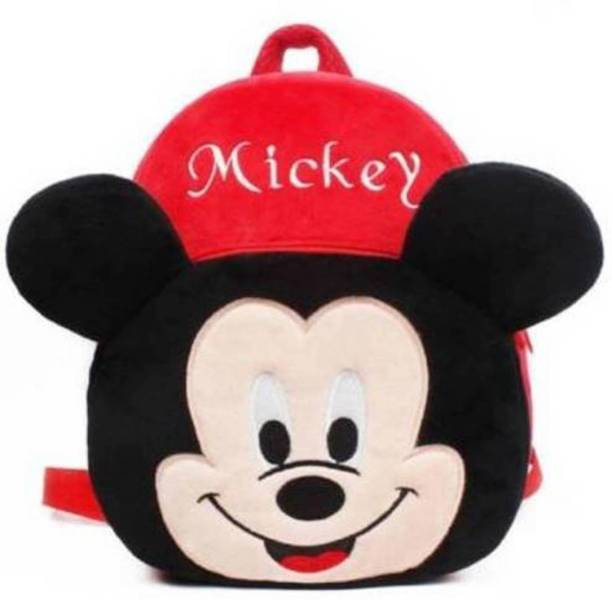 vtb retail Mickey mouse design kids school bag Backpack (Red12 L) for child /baby/ boy/ girl soft cartoon character bag gifted School Bag