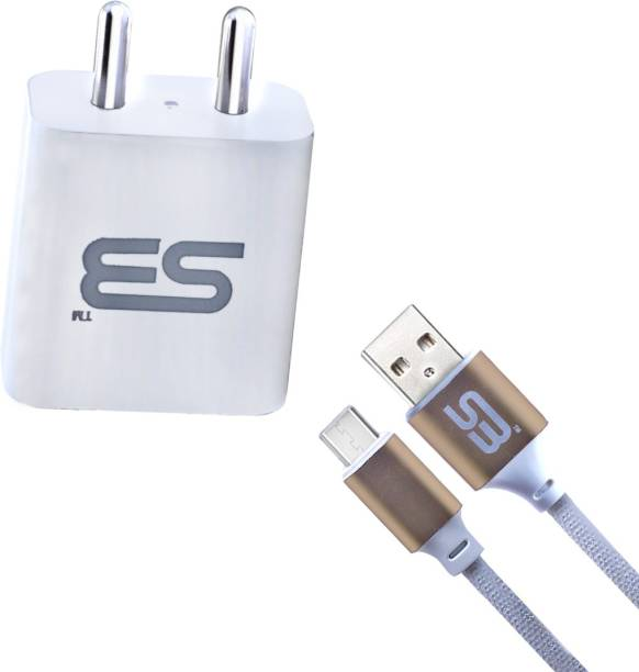 SB Power Adapter Mobile Charger with Type C Data & Sync Cable Gold Suitable for All Sony, LG, HTC, Lenovo, Realme 6 Pro, realme 6i, Realme 6, Realme X2, Fast Charging High Speed Data Transmission, 3.3 Feet (1 Meter) 1m USB Type C Cable Gold 5 W 3.1 A Multiport Mobile Charger with Detachable Cable