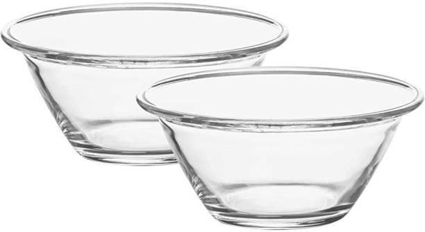 TREO Laurel Bowl Set of 2, 400 ml Glass Serving Bowl