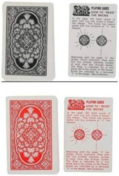 R.s.Magic Tricks (Marked) Playing Cards Grand Master (Pack of 2 Deck) 1+ Red, 1+ Black... Card Magic