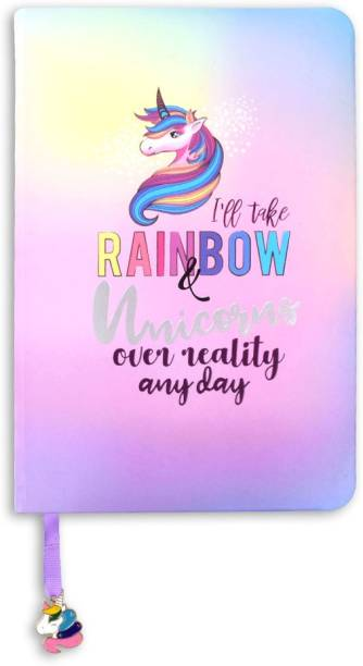 doodle Rainbow Fantasy Notebook A5 Notebook Ruled 160 Pages