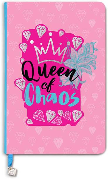 doodle Queen of Chaos Notebook A5 Notebook Ruled 160 Pages