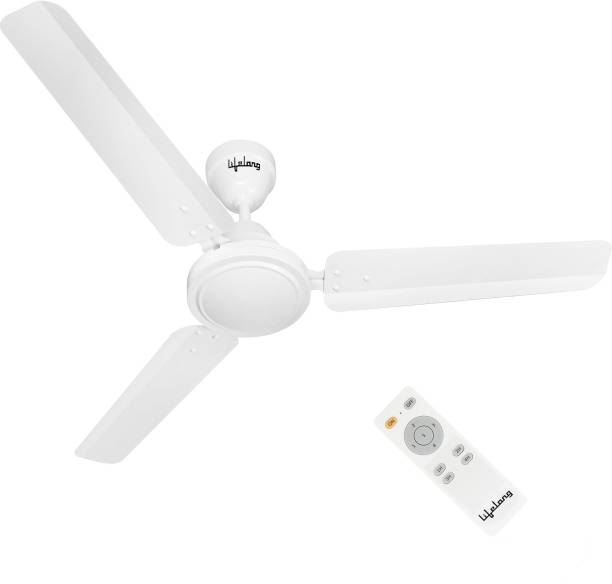 Lifelong Efficiente 1200 mm BLDC Motor with Remote 3 Blade Ceiling Fan