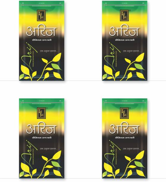 Zed Black Black Arij Incense Sticks – Medium Pack Long Lasting Pleasant Smelling Joss Sticks for Everyday Use - Pack of 4 Arij