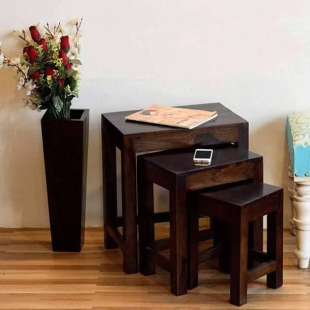 KendalWood Furniture Solid Wood Nesting Table
