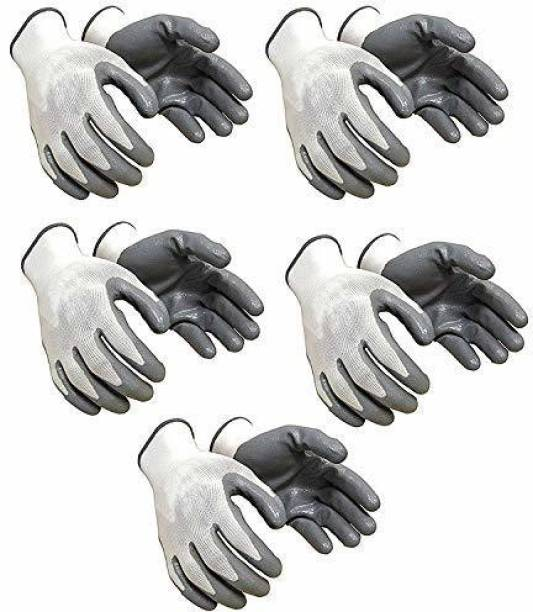 HM EVOTEK Nylon Anti Cut Resistance Hand Gloves (5 Pair) Re-usable and Washable,Industrial use, use for Kitchen, Gardening, Metal Sheet, Agriculture, Construction etc Gardening Shoulder Glove Gardening Shoulder Glove