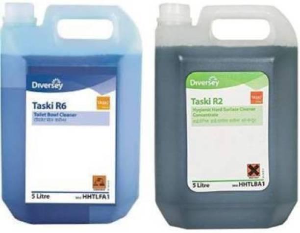 TASKI R2 & R6 Toilet Cleaner and Floor cleaner both Regular Liquid Toilet Cleaner (2 x 5 L) Regular Liquid Toilet Cleaner