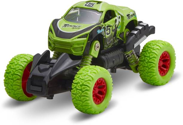 Miss & Chief Pull Back Monster Truck with Rubber Wheels