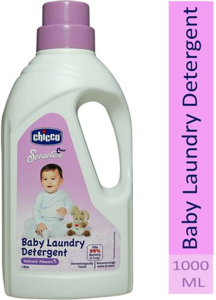 Chicco Baby Laundry Detergent, Delicate Flowers, 5X Stain & Germ Fighter, Kills 99% of Germs, Gentle on Clothes & Skin (1 L) Liquid Detergent