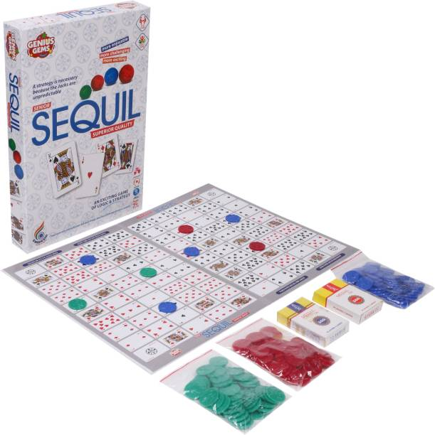 GENIUS GEMS PREMIUM QUALITY GAME AN EXCITING GAME OF LOGIC & STRATEGY Party & Fun Games Board Game