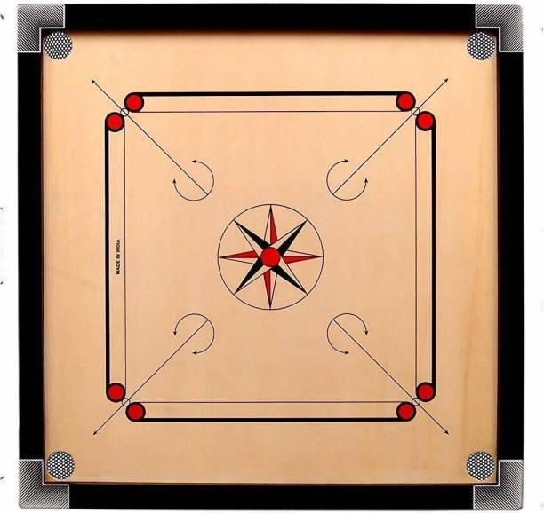 Deepak GLOSS FINE NEW STYLE 20 INCH CARROM BOARD Carrom Board Board Game