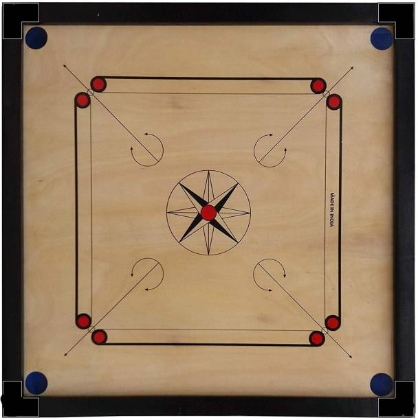 Aakar Sports Matt Finish Club Carrom Board Only For kid's (SIZE-26Inch) 66.04 cm Carrom Board