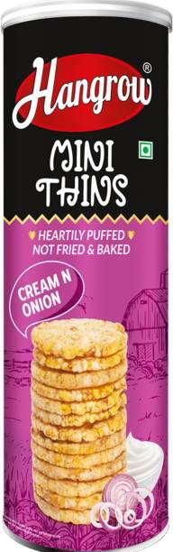 HANGROW Mini Thins Cream N Onion Cookies