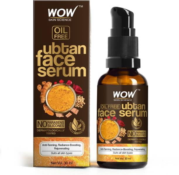 WOW SKIN SCIENCE Ubtan Face Serum - OIL FREE - For Anti Tanning, Radiance Boosting, Rejuvenating Skin - No Parabens, Silicones - 30mL