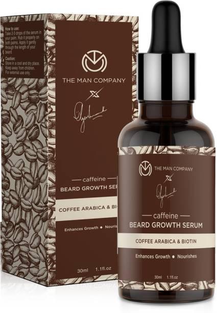 THE MAN COMPANY Caffeine Beard Growth Serum by Ayushmann Khurrana with Coffee Arabica and Biotin Hair Oil