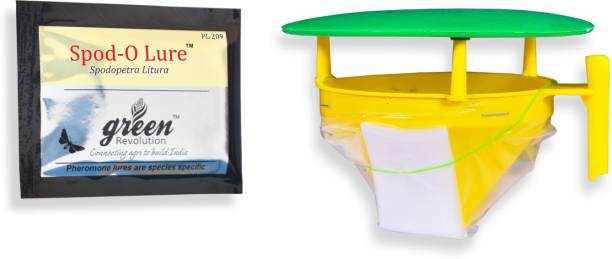 Green Revolution Funnel Trap With Spodo O Lure (Spodoptera litura pheromone lure)