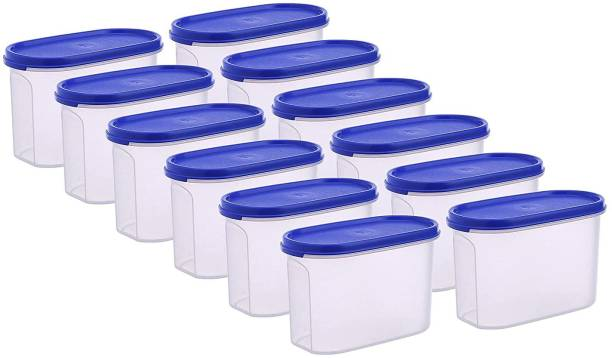 Flipkart SmartBuy Plastic Oval & Modular Kitchen Containers / Kitchen Storage Containers / Airtight Container / Storage Box / Plastic Box / Plastic Containers / Canisters / Combo / Set For Tea, Coffee, Sugar, Food, Grain, Rice, Masala, Pasta, Pulses, Spices, Kitchen  - 1000 ml Plastic Grocery Container