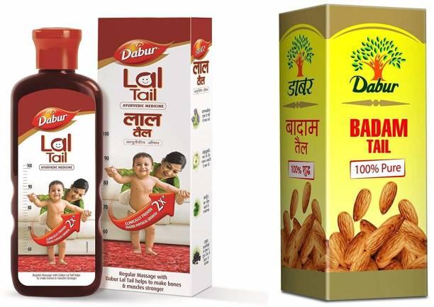 Dabur Lal Tail 500ml and Badam Tail 50ml Combo Pack