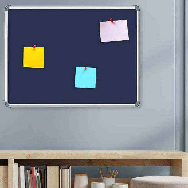 SRIRATNA 1.5 X 2 Feet Blue Notice Premium Material Pin-up Board/Pin-up Board/Soft Board/Bulletin Board/Pin-up Display Board for Office, School and Home Notice Board